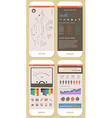 Flat Elements of Infographics vector image vector image