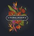 floral bouquet dark design with gloriosa vector image vector image