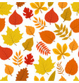 forest golden autumn leaves seamless vector image