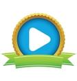 Gold play logo vector image vector image