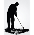 golfer silhouette vector image vector image