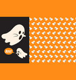 halloween ghost seamless pattern background vector image