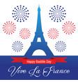happy bastille day celebration banner vector image vector image