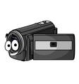Happy cartoon video camera vector image