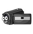 Happy cartoon video camera vector image vector image