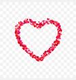 heart frame romantic decoration element valentine vector image vector image