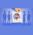 human recruitment man vacancy concept vector image vector image