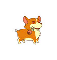 in love dog with a rose in his mouth on white vector image vector image