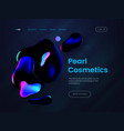 landing page template with a dark background can vector image