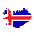 map - iceland vector image vector image