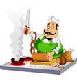 melancholic cook vector image vector image