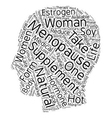 Menopause Supplements text background wordcloud vector image vector image