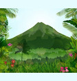 mountains landscape of tropical background vector image vector image