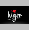 Niger country text typography logo icon design on