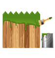 Painted wooden fence vector image vector image