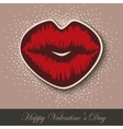 Paper Hearts Lips kiss sticker vector image vector image