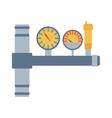 Pressure sensor tool on factory pipeline vector image vector image