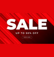 red sale banner template design vector image vector image