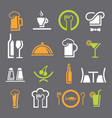 restaurant icon color2 vector image