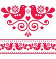 scandinavian folk design elements cute vector image vector image
