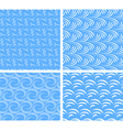 Set of abstract water seamless patterns vector | Price: 1 Credit (USD $1)