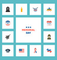 set of history icons flat style symbols with vector image vector image