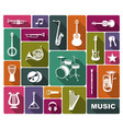 silhouettes musical instruments vector image