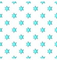 Six pointed star pattern cartoon style vector image vector image