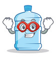 super hero gallon character cartoon style vector image