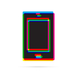 Tablet icon with shadow vector image vector image