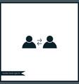teamwork icon simple vector image vector image