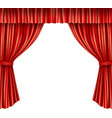 Theater curtains isolated vector image vector image