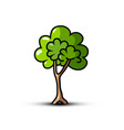 tree symbol - icon vector image vector image