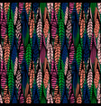 tribal seamless pattern with abstract leaves vector image vector image