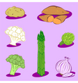 vegetable icons 2 vector image vector image