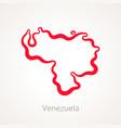 venezuela - outline map vector image