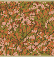 vintage 70s color leaves and branches pattern vector image vector image