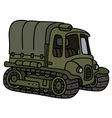 Vintage artillery tractor vector image vector image