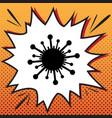 virus sign comics style icon vector image