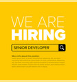 we are hiring minimalistic yellow flyer template