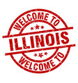 welcome to illinois red stamp vector image vector image