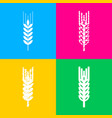 wheat sign spike spica four styles vector image vector image