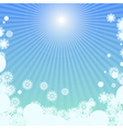 Winter background with sunlight vector image vector image