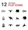 12 horn icons vector image vector image