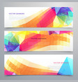 abstract funky banners set of three vector image vector image