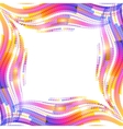 Abstract rainbow wave ripples frame vector image vector image