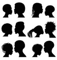 African female and male face silhouettes