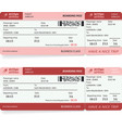 airlane boarding pass vector image vector image