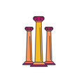 ancient columns icon cartoon style vector image vector image