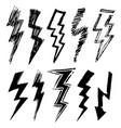 artistic lightnings vector image